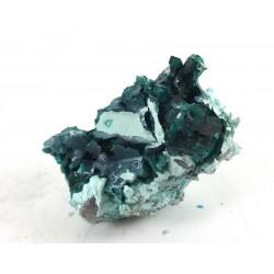 Multiple Bright Green Dioptase Crystals on Matrix