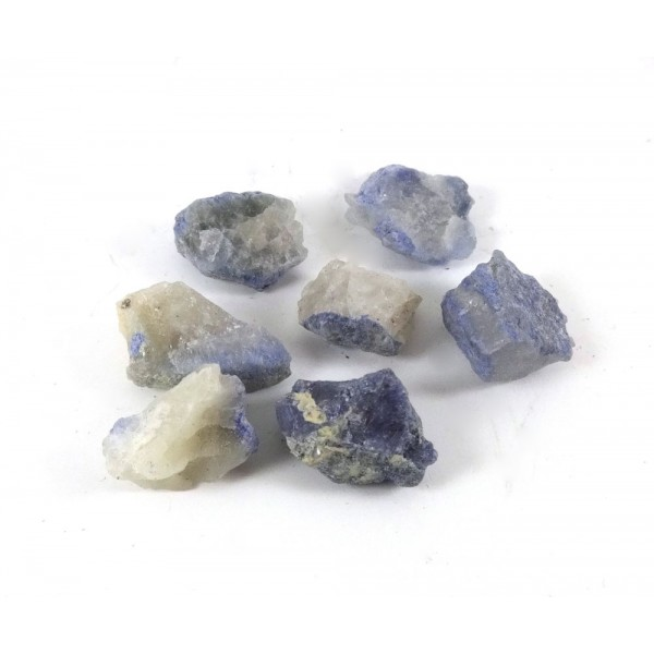 Blue Dumortierite Rough in Quartz Piece