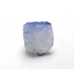 Blue Dumortierite On Quartz Crystal