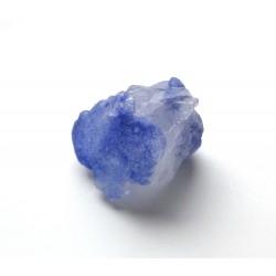 Blue Dumortierite Encrusted Quartz Crystal
