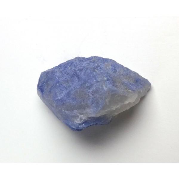Blue Dumortierite Covered Quartz Crystal