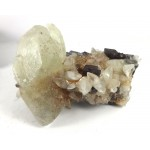Calcite Crystals on Fluorite Cluster