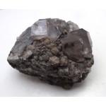 Light Purple Clear Fluorite Crystals on Galena