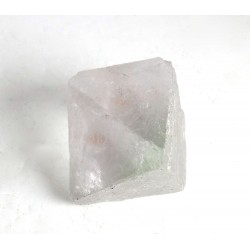 Light Green Clear Fluorite Octahedron Crystal