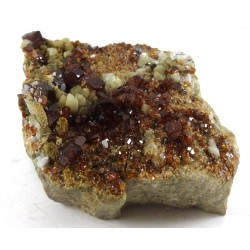 Garnet and Vesuvianite on Feldspar
