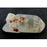 Spessartine Garnet Crystal on a Quartz Point