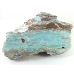 Blue Hemimorphite Crystal Chunky Slice
