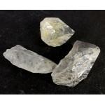 Genuine Herkimer Quartz Diamond Part Crystals Lot of 3