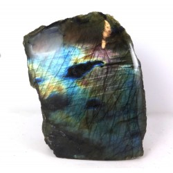 Purple Flash Labradorite with a Polished Surface