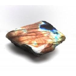 Vivid Gold Orange and Blue Labradorite