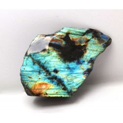 Blue gold and Green Labradorite