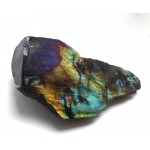 Gold Blue & Purple Flash Labradorite with a Polished Surface