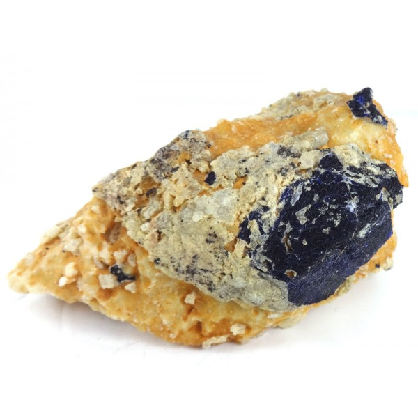 Lapis Lazuli Crystal on Calcite