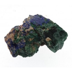 Pseudomorph of Malachite after Azurite