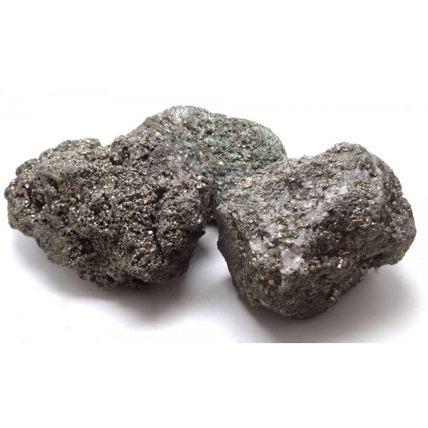 Large Iron Pyrite Crystal Clusters x 3