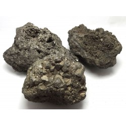 3 Large Iron Pyrite Crystal Clusters
