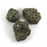 3 x Iron Pyrite Crystal Clusters