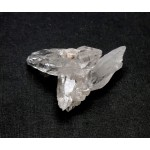 Bright double Terminated Quartz Point Small Cluster