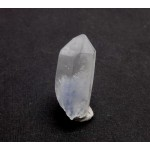 Blue Dumortierite in a Quartz Crystal Point