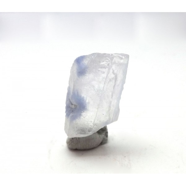Blue Dumortierite Within This Quartz Crystal Section