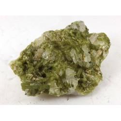 Green Multiple Tourmalinated Quartz Cluster