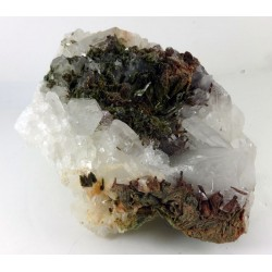 Quartz Cluster with Epidote