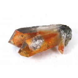 Iron Chlorite Limonite Twin Quartz Point