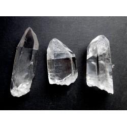 3 Lemurian Quartz Natural Crystal Points