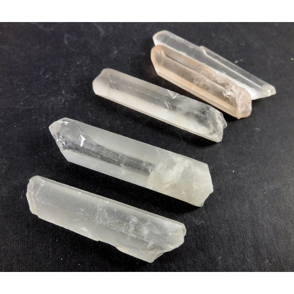 5 Clear Quartz Points 45-55mm