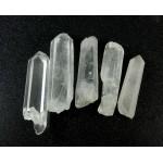 5 Clear Quartz Points 34-42mm