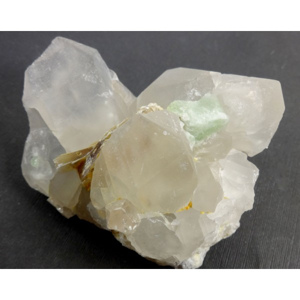 Quartz Cluster with Topaz Tourmaline and Mica Crystals