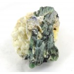 Bi Colour Green Cats Eye Type Tourmaline on Feldspar