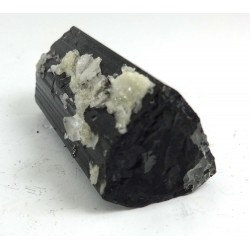 Black Tourmaline Crystal with attached Topaz Crystal