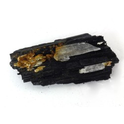Natural Black Tourmaline with Quartz