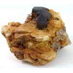 Black Tourmaline and Topaz Crystal Matrix