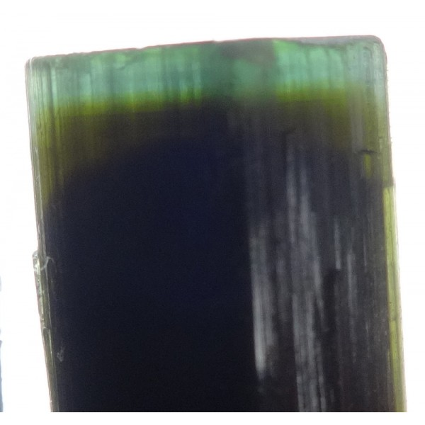 Green Blue and Black Zoned Tourmaline Crystal Formation