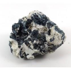Blue Tourmaline Crystal with Feldspar Formation