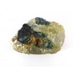 Blue Tourmaline Crystals on Quartz