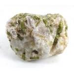Green Tourmaline Spray within Feldspar Mica