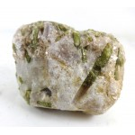 Green Tourmaline Spray within Feldspar Mica
