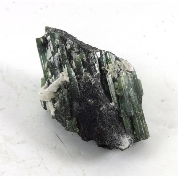 Green Black Cats Eye Tourmaline Crystal