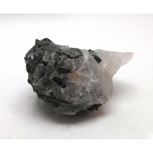 Green Tourmaline crystals in Quartz