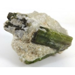 Green Multiple Tourmalines Quartz Matrix
