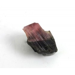 Pink and Black Tourmaline Crystal