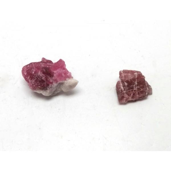 2 Pink Tourmaline Pieces