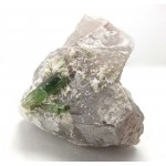 Quartz with Water Melon and Green Tourmaline Crystals