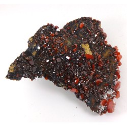 Sparkly Vanadinite Crystal Cluster Matrix