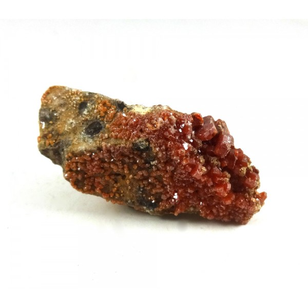 Vanadinite Crystal Covered Cluster