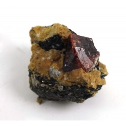 Bright Red Zircon Crystal Matrix