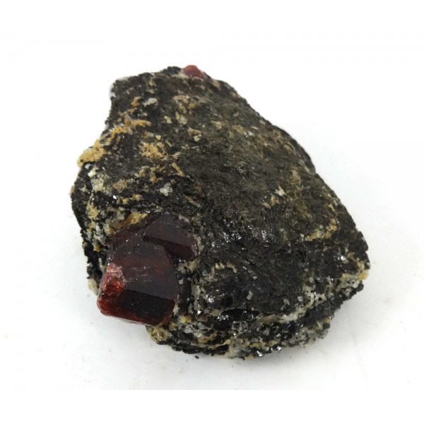 Bright Red Zircon Crystal Matrix